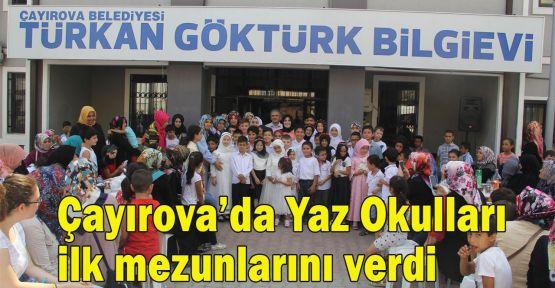 Çayırova'da Yaz Okulları ilk mezunlarını verdi