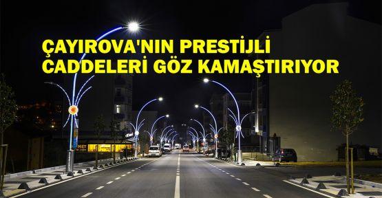 Çayırova'nın prestijli caddeleri göz kamaştırıyor