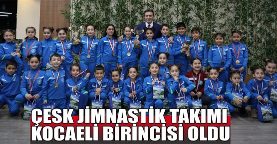ÇESK Jimnastik takımı başarılarına bir yenisini daha ekledi