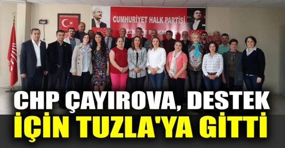 CHP Çayırova destek için Tuzla'ya gitti