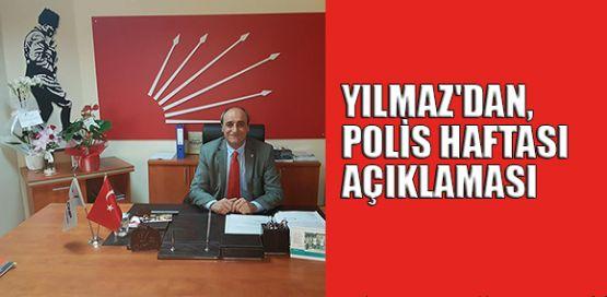 CHP Gebze İlçe Başkanı Musa Yılmaz'dan, Polis Haftası açıklaması
