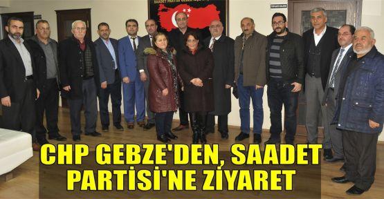 CHP Gebze'den, Saadet Partisi'ne ziyaret