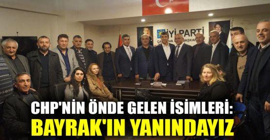 CHP'nin önde gelen isimleri: Bayrak'ın yanındayız
