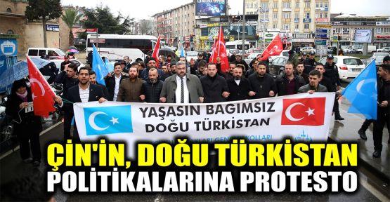 Çin'in Doğu Türkistan politikalarına protesto