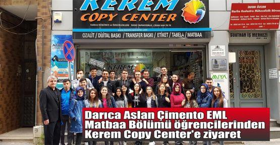 Darıca Aslan Çimento EML Matbaa Bölümü öğrencilerinden Kerem Copy Center'e ziyaret