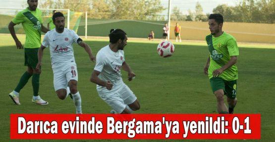Darıca evinde Bergama'ya yenildi: 0-1