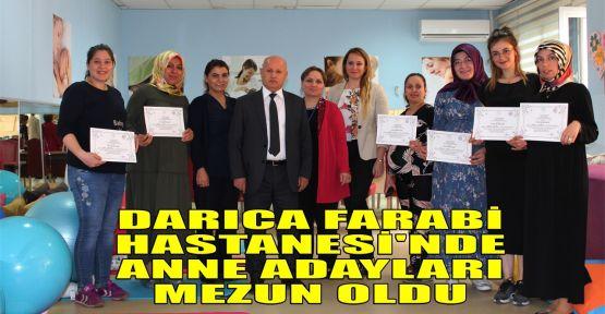 Darıca Farabi Hastanesi'nde anne adayları mezun oldu