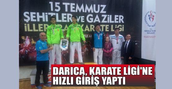 Darıca Karate Ligi'ne hızlı giriş yaptı