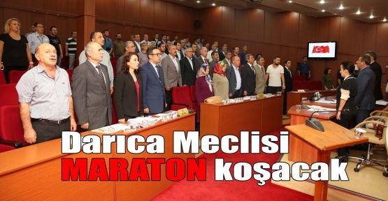 Darıca Meclisi maraton koşacak