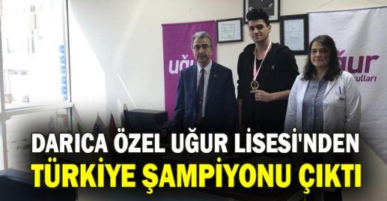 Darıca Özel Uğur Lisesi'nden Türkiye şampiyonu çıktı