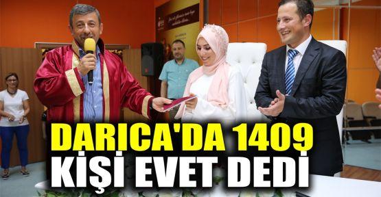 Darıca'da 1409 kişi evet dedi