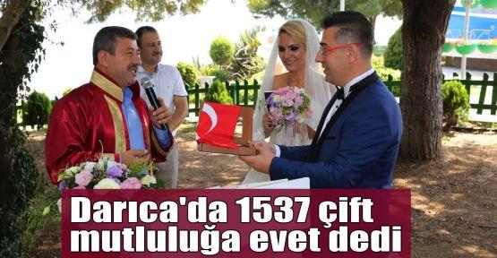 Darıca'da 1537 çift mutluluğa evet dedi