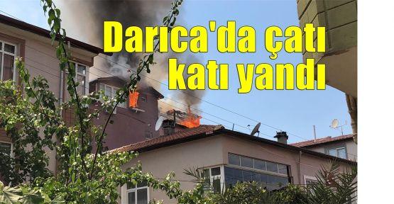 Darıca'da çatı katı yandı