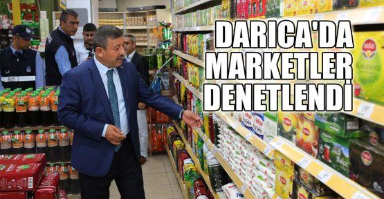 Darıca'da marketler denetlendi