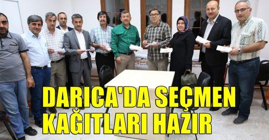 Darıca'da seçmen kağıtları hazır