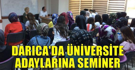 Darıca'da üniversite adaylarına seminer
