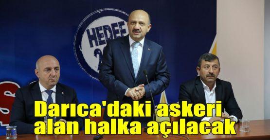Darıca'daki askeri alan halka açılacak
