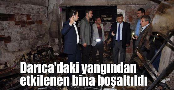Darıca'daki yangından etkilenen bina boşaltıldı