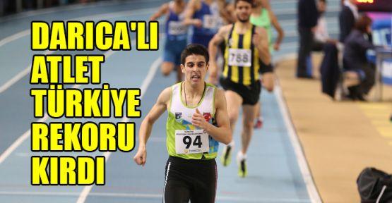Darıca'lı atlet Türkiye rekoru kırdı