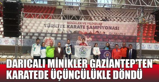 Darıcalı minikler Gaziantep'ten üçüncülükle döndü