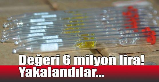 Değeri 6 milyon lira! Yakalandılar...