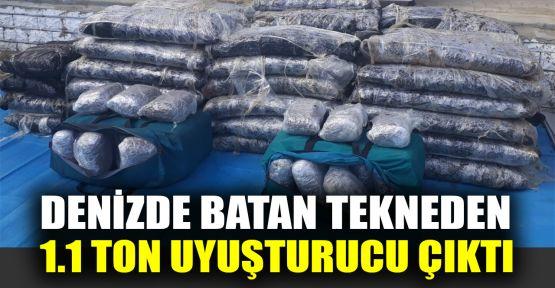 Denizde batan tekneden 1,1 ton uyuşturucu çıktı