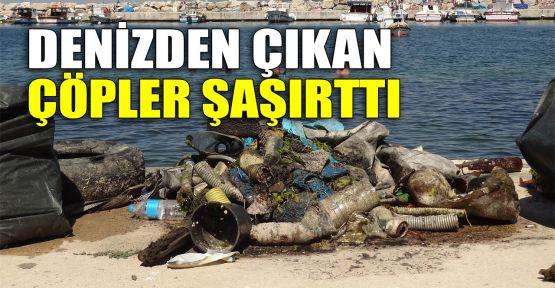 Denizden çıkan çöpler şaşırttı
