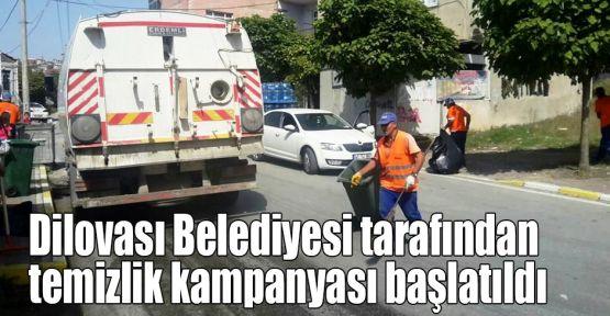 Dilovası Belediyesi tarafından temizlik kampanyası başlatıldı