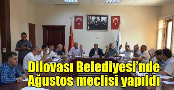 Dilovası Belediyesi'nde Ağustos meclisi yapıldı