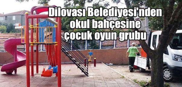 Dilovası Belediyesi'nden okul bahçesine çocuk oyun grubu