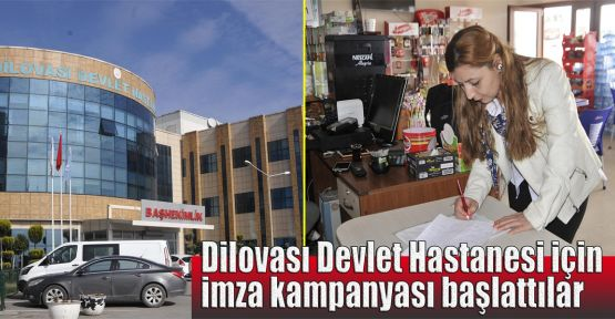 Dilovası Devlet Hastanesi için imza kampanyası başlattılar
