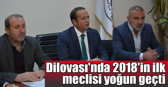 Dilovası'nda 2018'in ilk meclisi yoğun geçti