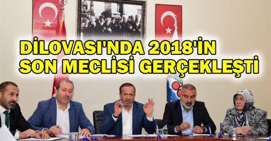 Dilovası'nda 2018'in son meclisi gerçekleşti