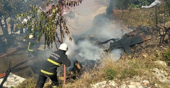Dilovası'nda evin tandırında yangın çıktı