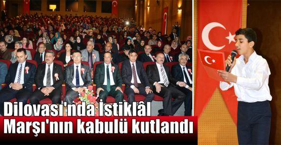 Dilovası'nda İstiklal Marşı'nın kabulü kutlandı