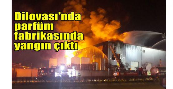 Dilovası'nda parfüm fabrikasında yangın çıktı
