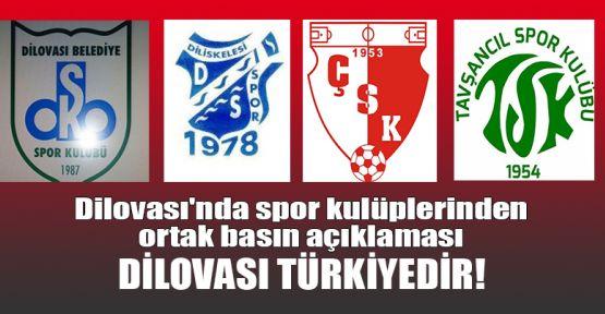 Dilovası'nda spor kulüplerinden ortak basın açıklaması DİLOVASI TÜRKİYEDİR!