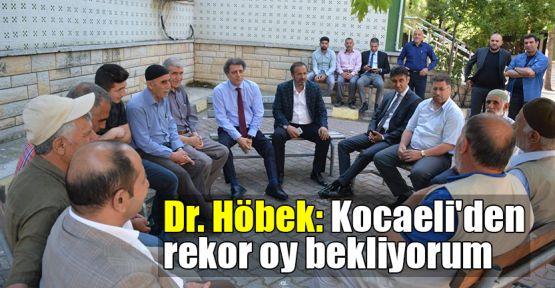 Dr. Höbek: Kocaeli'den rekor oy bekliyorum