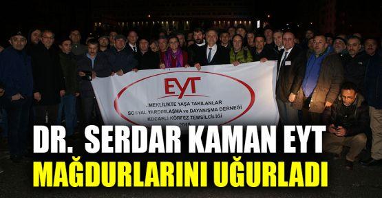 Dr. Kaman EYT Mağdurlarını uğurladı