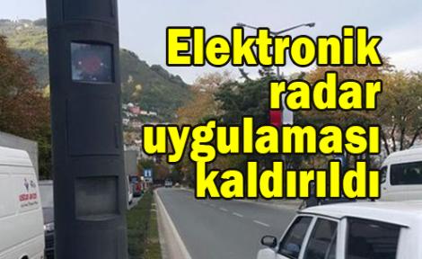 Elektronik radar uygulaması kaldırıldı