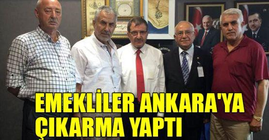 Emekliler Ankara'ya çıkarma yaptı