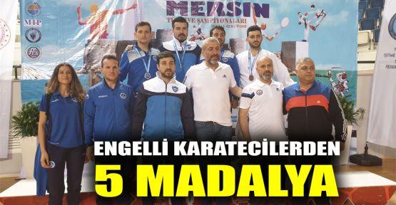 Engelli karatecilerden 5 madalya