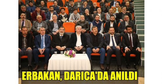 Erbakan, Darıca'da anıldı