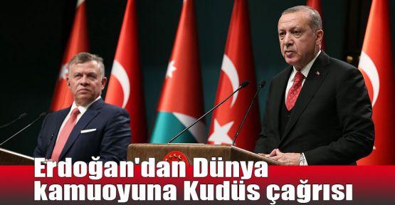Erdoğan'dan Dünya kamuoyuna Kudüs çağrısı