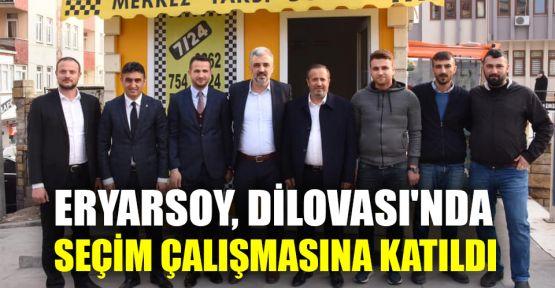 Eryarsoy, Dilovası'nda seçim çalışmasına katıldı
