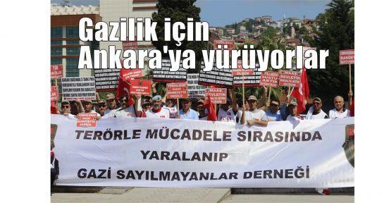 Gazilik için Ankara'ya yürüyorlar
