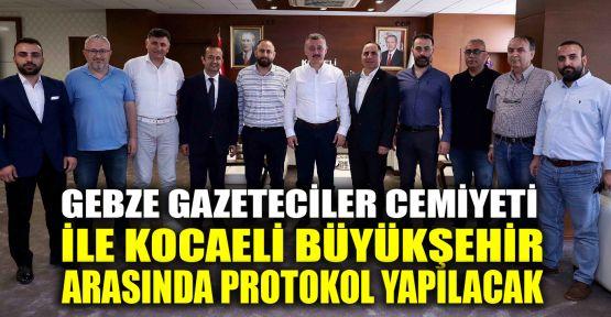 Gebze Gazeteciler Cemiyeti ile Büyükşehir arasında protokol yapılacak