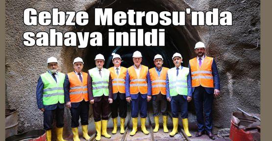Gebze Metrosu'nda sahaya inildi