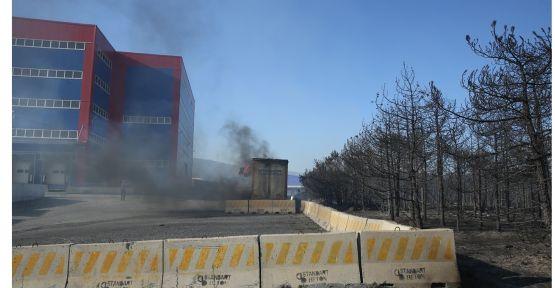 Gebze'de orman yangını fabrikaya sıçradı