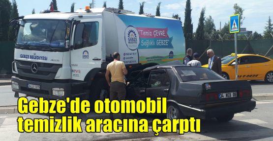 Gebze'de otomobil temizlik aracına çarptı